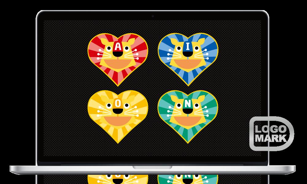 ロゴマーク,ロゴデザイン,ブランドマーク,キャラクター,オシャレ,かわいい,かっこいい,品がある,デザイン,Logo,Mark,toru chang,あいおん保育園,大阪,堺市